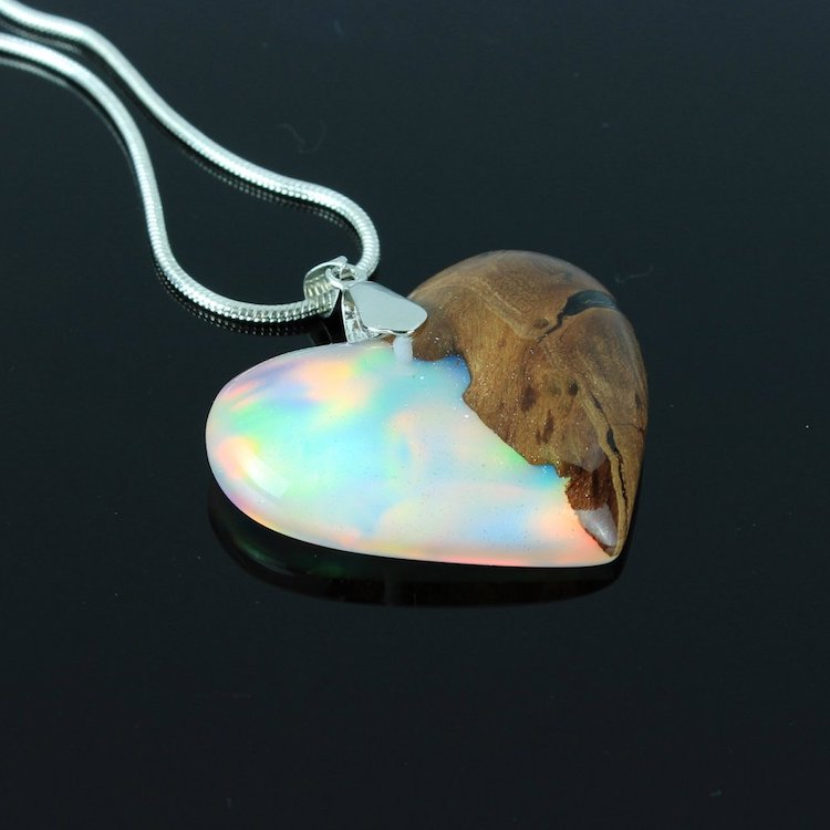 Wood All Good Resin and Opal Jewelry