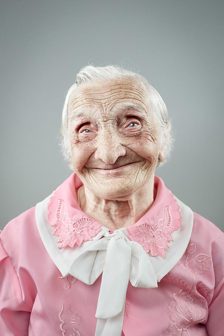 Portrait Photography Smiling Senior Citizens by lya Nodia