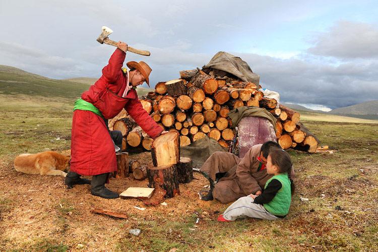 Tsaatan Reindeer Herders by Pascal Mannaerts