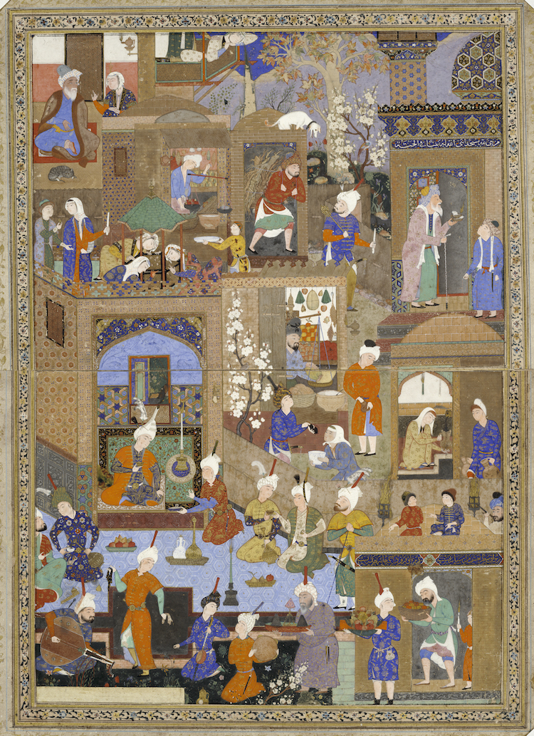 historia del color rojo cultura persa
