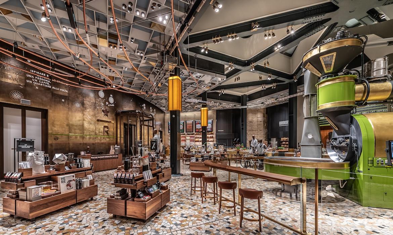 Starbucks Milan Makes A Splash With An Opulent Interior