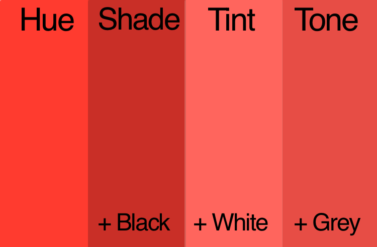 Difference Between Tint, Tone, and Shade