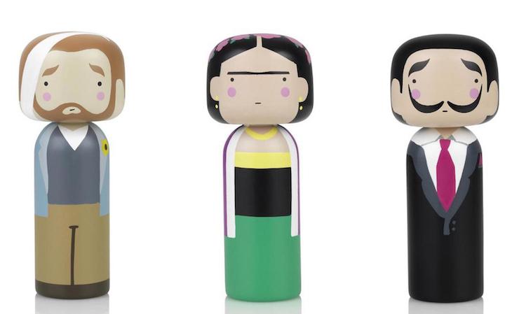 Modern Artist Kokeshi Dolls by Becky Kemp Sketch Inc