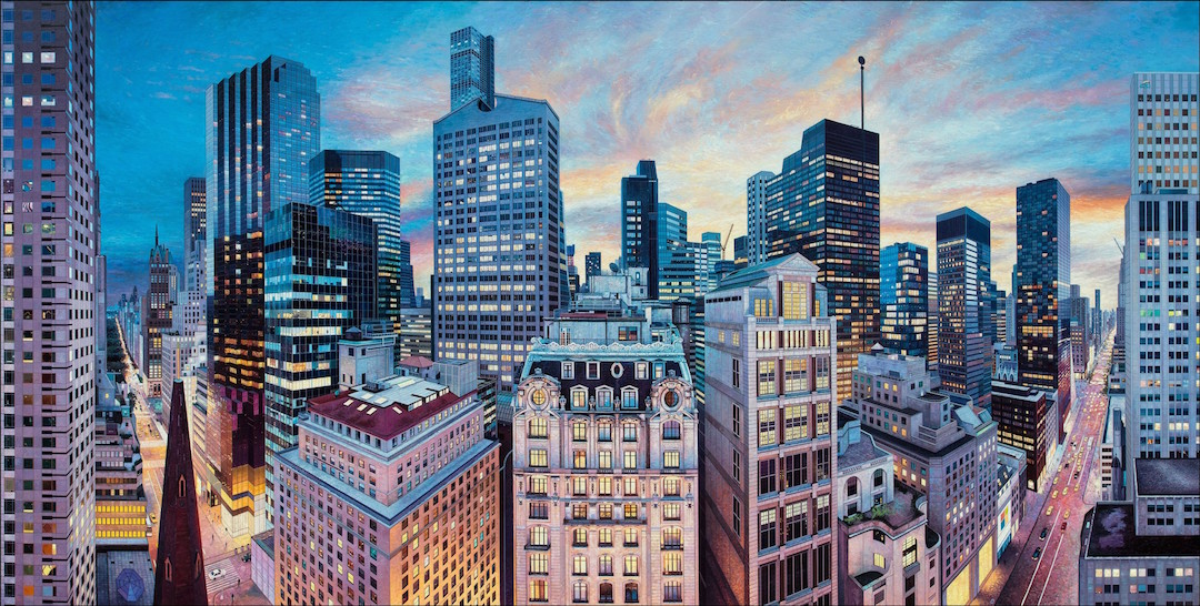 Cityscape Photorealistic Painting by Nathan Walsh