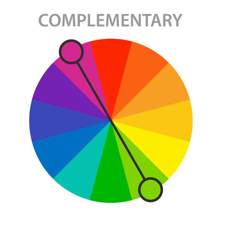 color harmony complementary color scheme