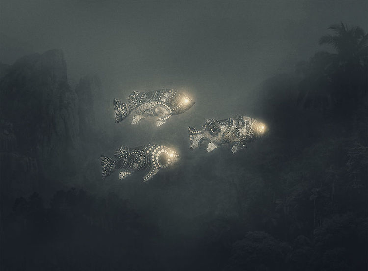 Depression Illustration Jungle Animals Series by Dawid Planeta
