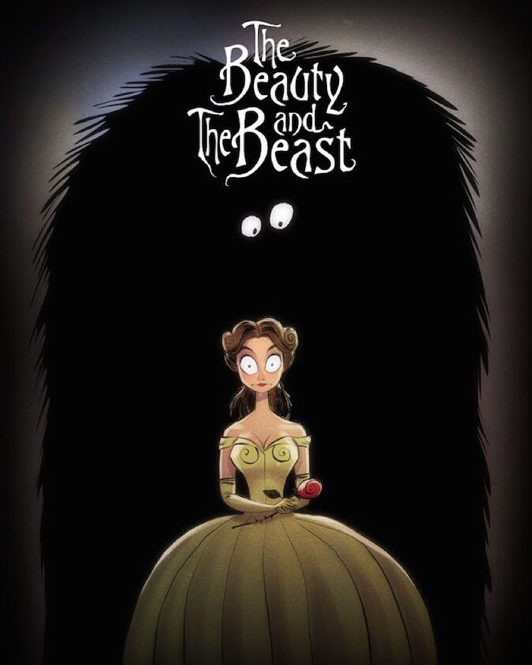 Disney Characters Tim Burton Style Andrew Tarusov