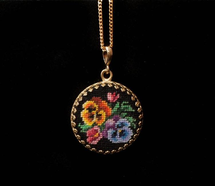 DIY Needlepoint Pendant Kit