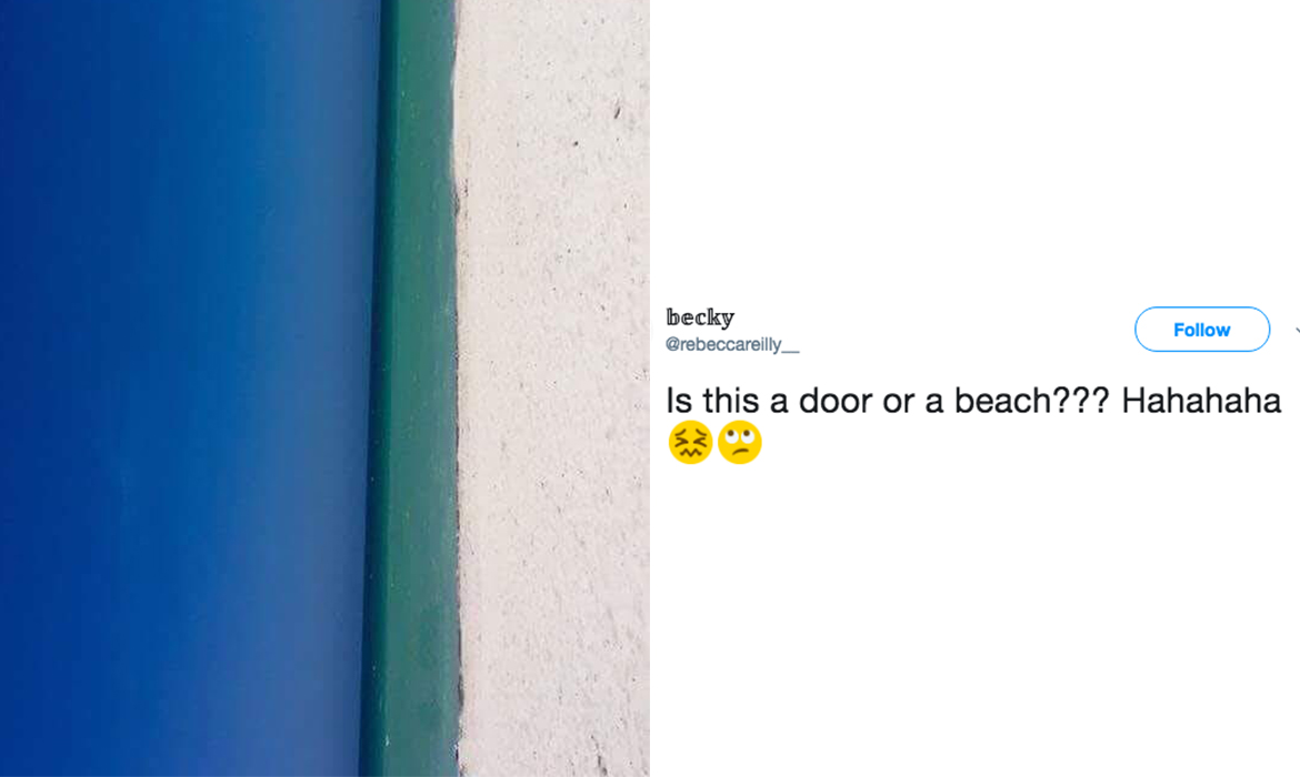 New illusion: the beach or the door 1