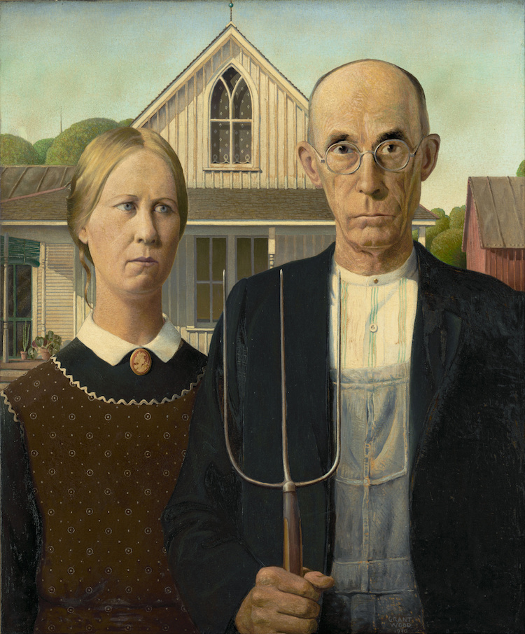 Famous Portraits in Art History American Gothic