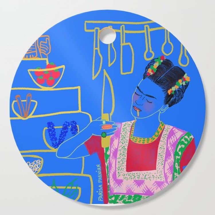 Frida Kahlo Cutting Board