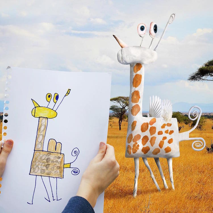 Artist Brings His Funny Kids Drawings To Life With Hilarious Digital Art