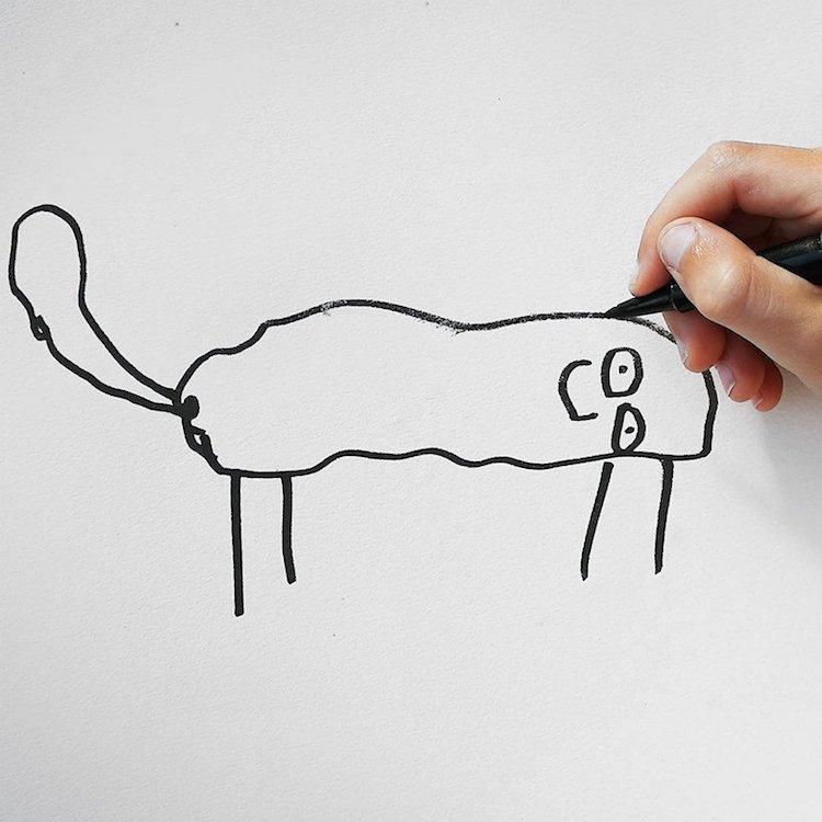Рисунки смешных детских рисунков цифрового искусства, которые я нарисовал