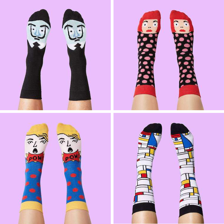 Chattyfeet Artist Socks Portrait Socks