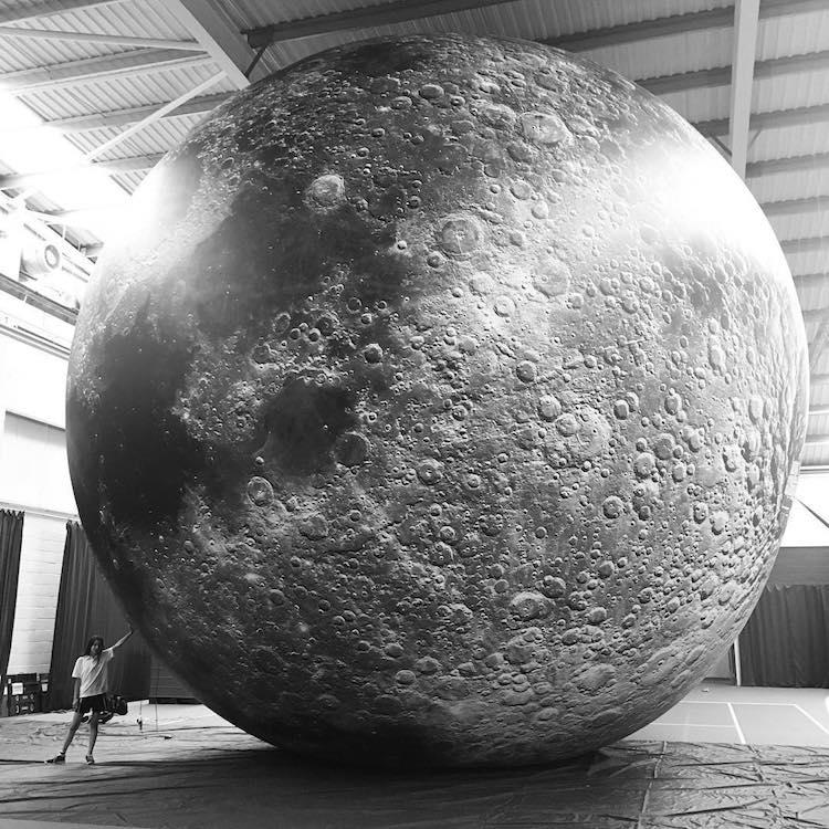 Museum of The Moon Installation Art by Luke Jerram