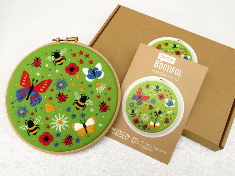 Nature Embroidery Kits Cactus Embroidery Cherry Blossom Embroidery