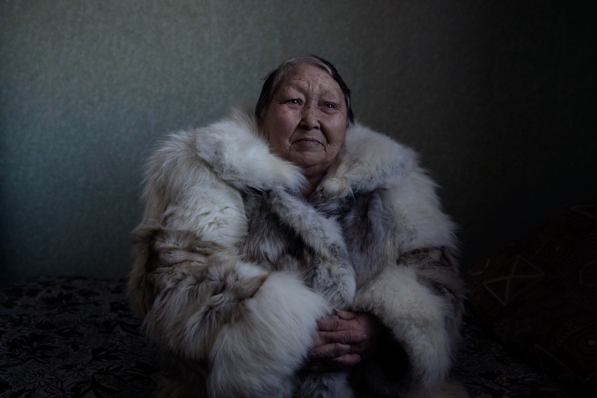 Elderly Siberian Woman by Oded Wagenstein