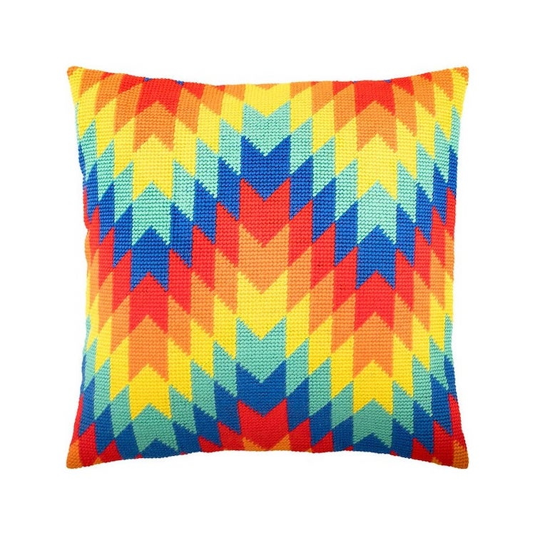 Bargello Needlepoint Pillow Kit