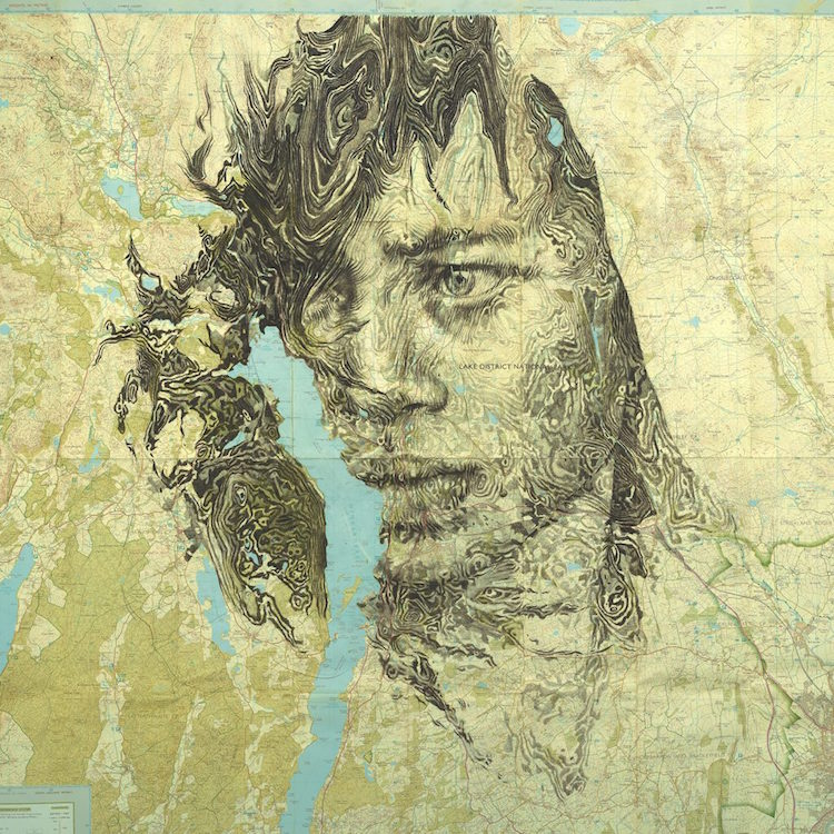 Portrait Drawings Cartography by Ed Fairburn