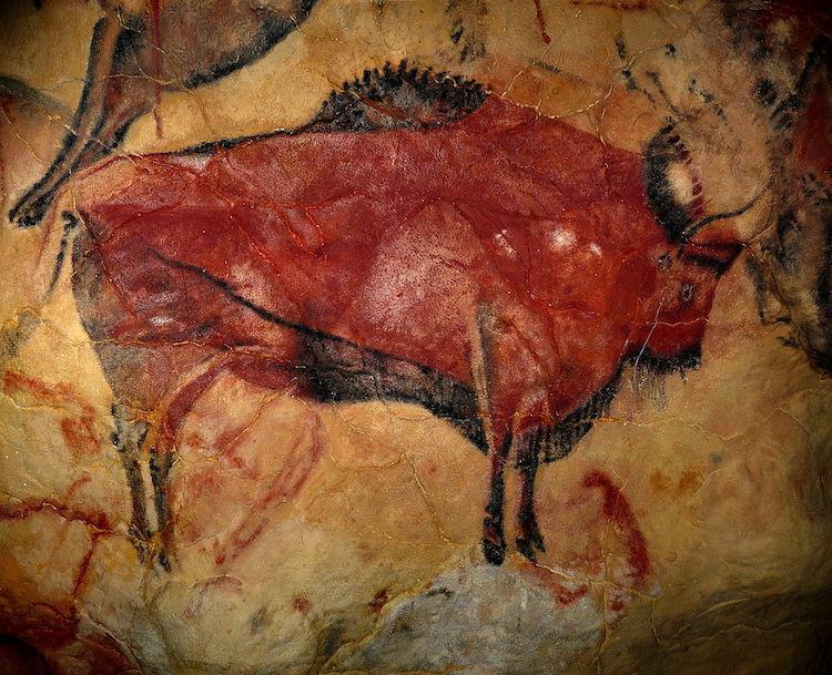 Ocre rojo en cuevas de Altamira