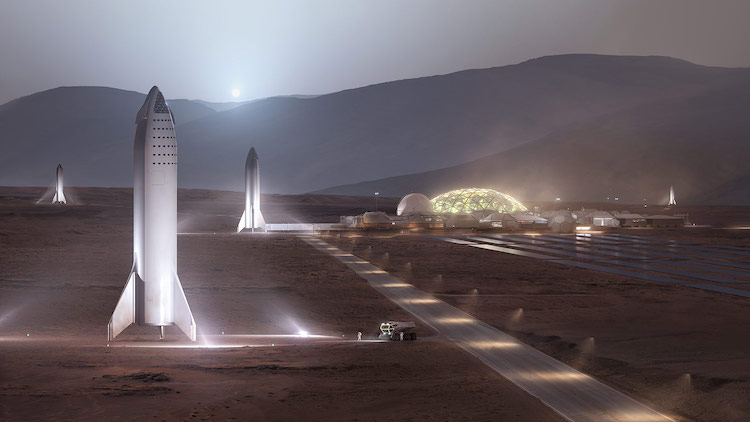 SpaceX - Mars Base