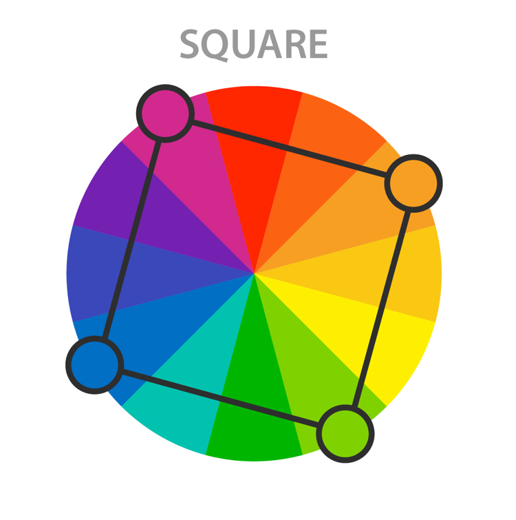 Color Harmony - Square Color Scheme