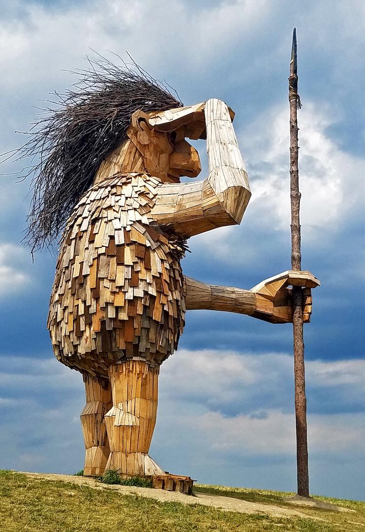 Morton Arboretum Trolls Thomas Dambo Wooden Troll Sculptures