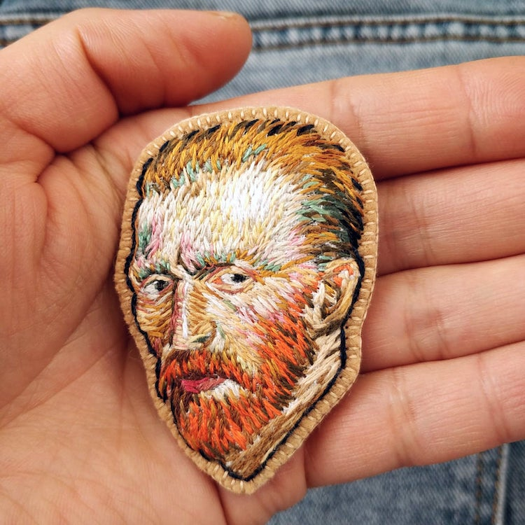 Van Gogh Embroidered Brooch