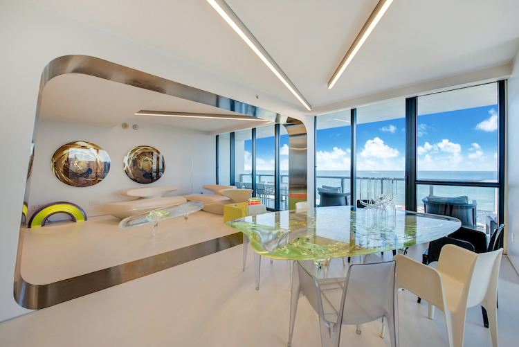 Zaha Hadid Miami Residence on Collins Ave