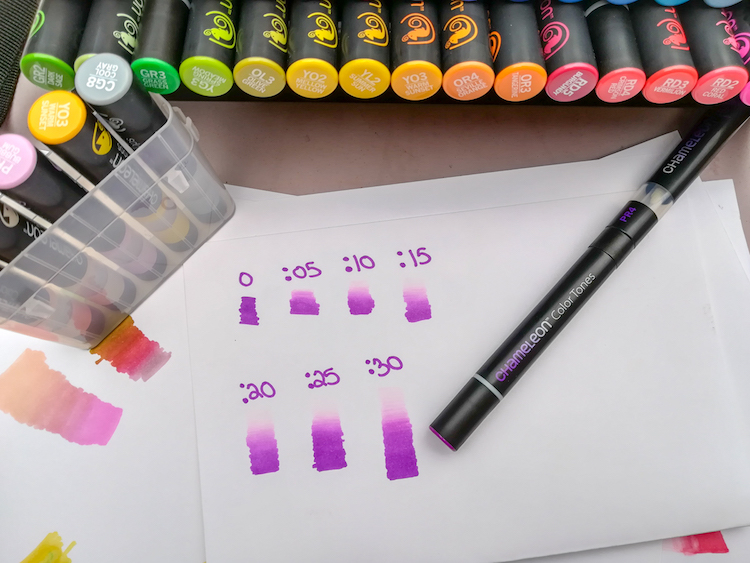 Chameleon Pens are Alcohol Markers that let you