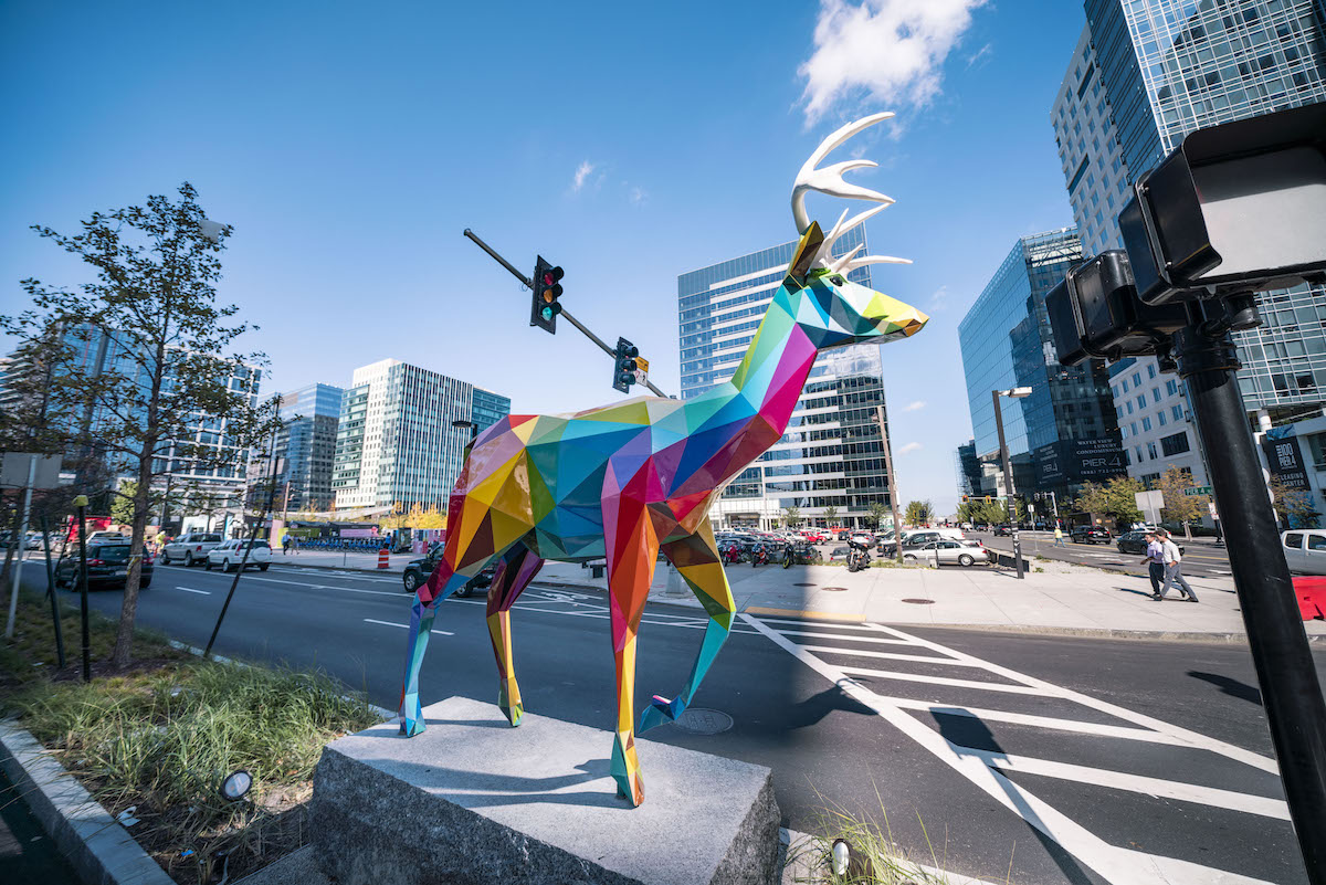 Okuda - Boston Seaport Public Sculptures