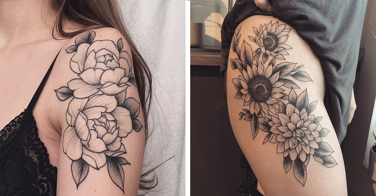 Eye-Catching Floral Tattoos Immortalize Beautiful Blooms on the Skin