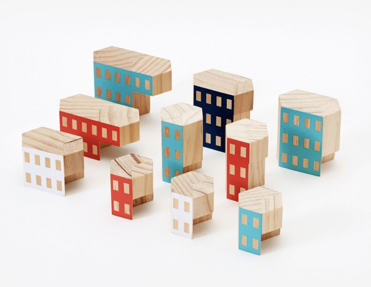 Architectural Blocks Blockitecture Blocks for Adults James Paulius Wooden Blocks