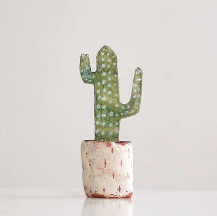 Cactus Ceramic Sculpture