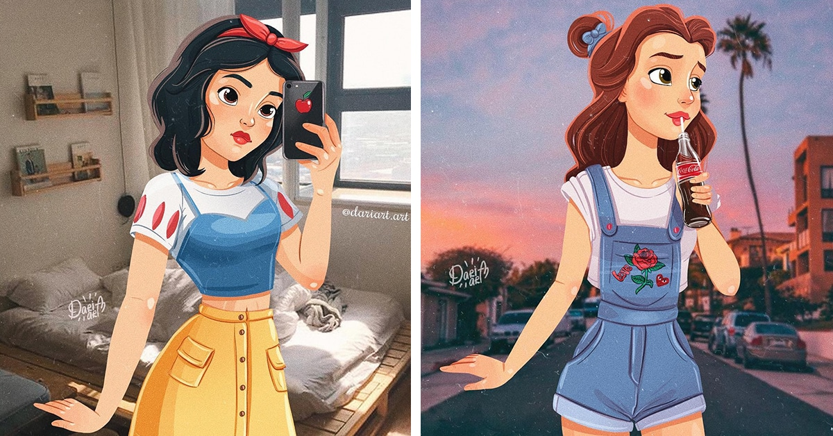 Disney Princesses Creatively Reimagined as Modern-Day ...