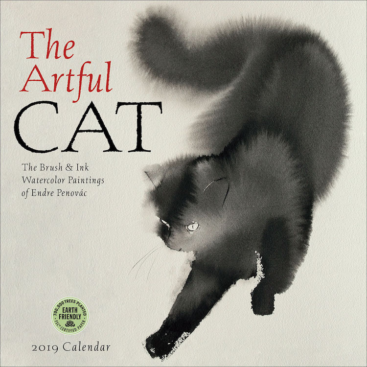 The Artful Cat by Endre Penovac, Amber Lotus Publishing