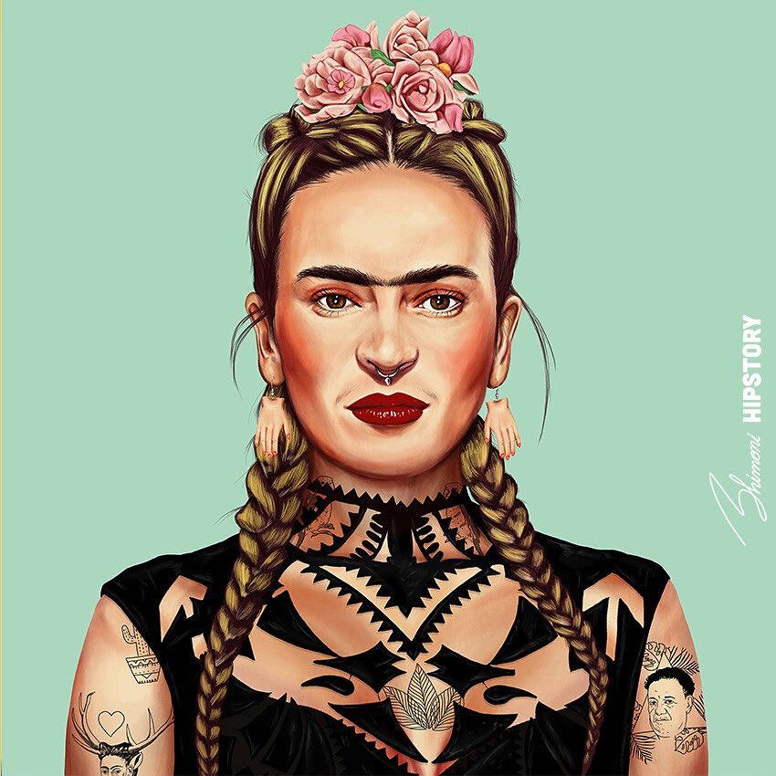 Artistas Famosos Retratos como Hipsters Hipstory Amit Shimoni