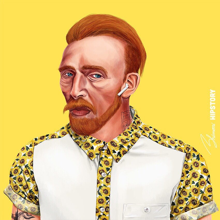 Famous Artists Hipster Portraits Hipstory Amit Shimoni