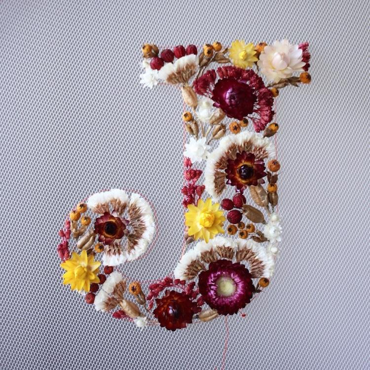 Floral Letter Art by Olga Prinku