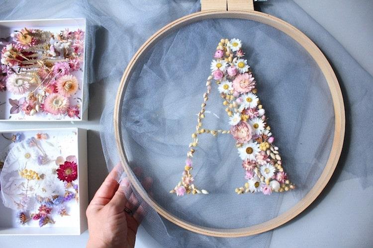 Arte Floral Letras Florales por Olga Prinku