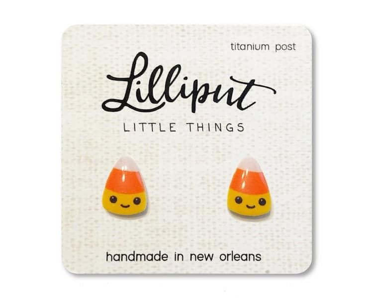 Halloween Earrings - Candy Corn