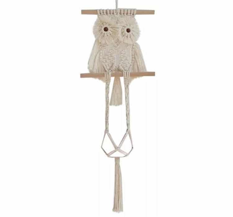 Macrame Owl Plant Holder