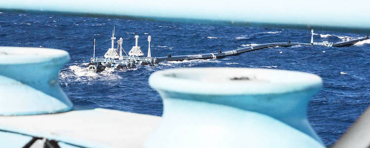 Ocean Cleanup Pacific Ocean Trials