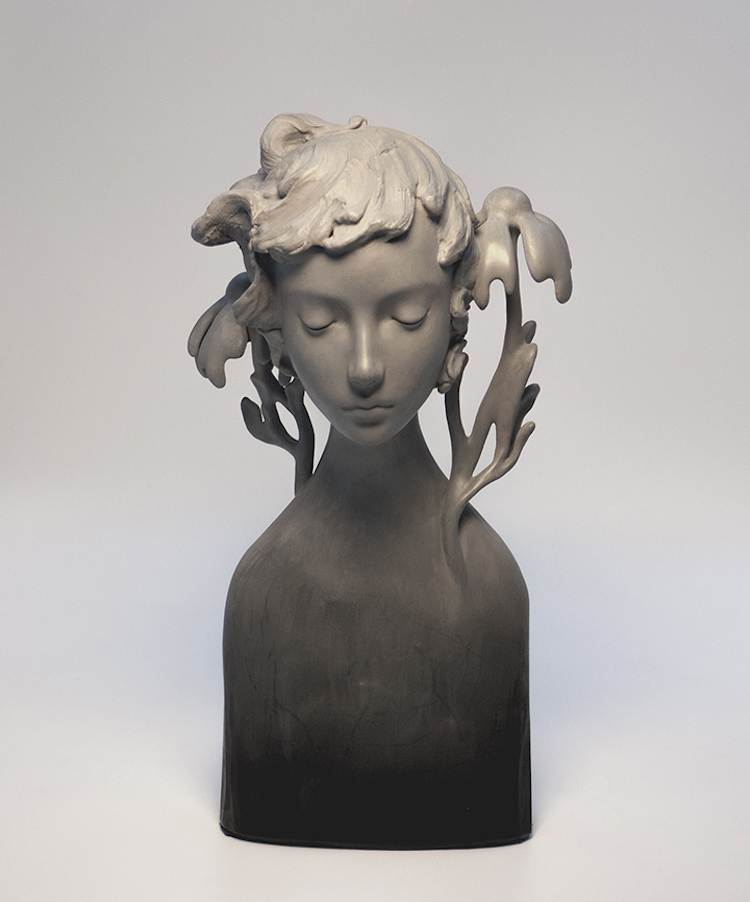 Ethereal Oil Paintings and Figurative Sculptures Lore by Amy Sol