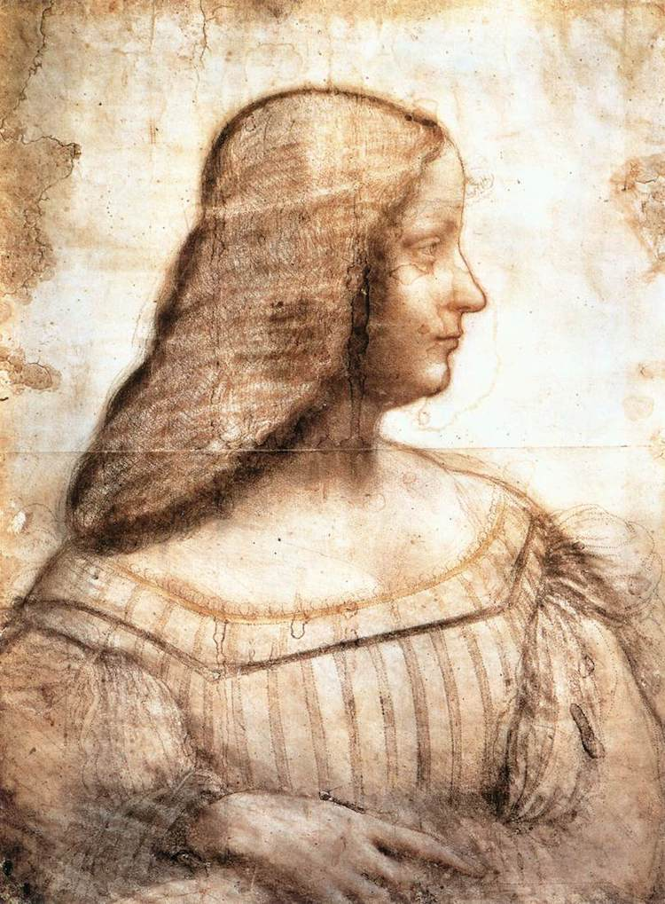 Pastel Art Drawing by Leonardo da Vinci