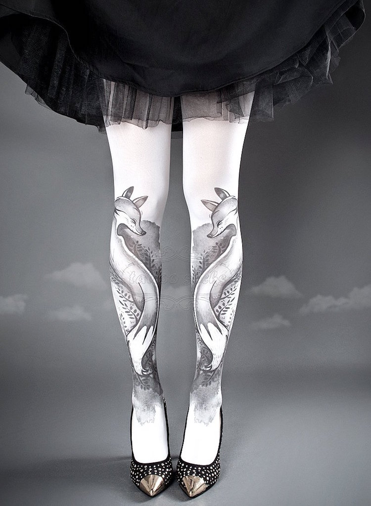 Patterned Tights Leg Sleeve Tattoos by tattoosocks