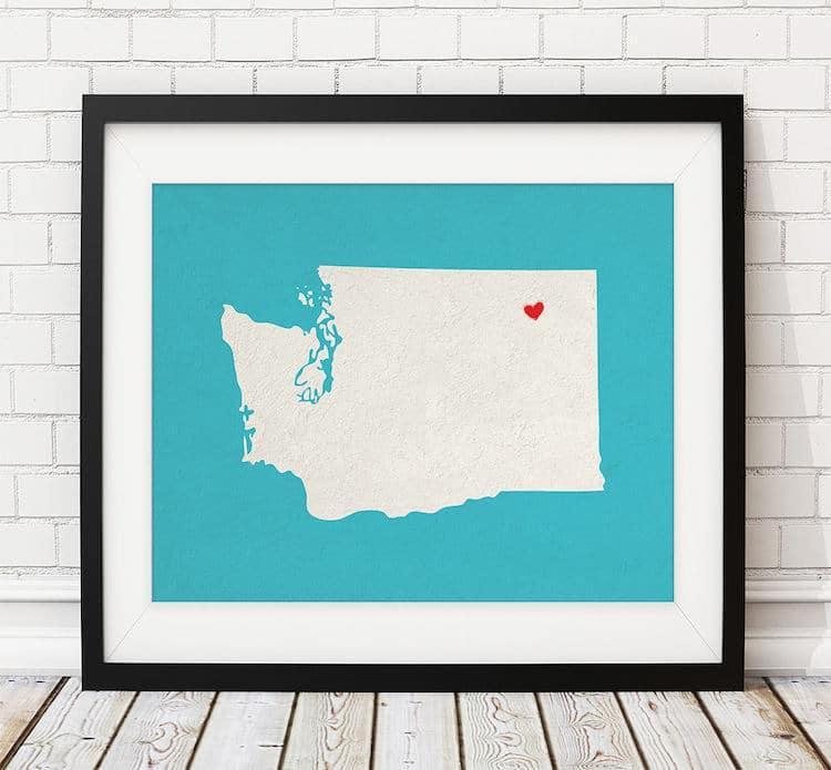 Custom Map Print