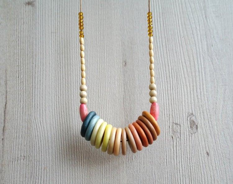 Gradient Disc Necklace
