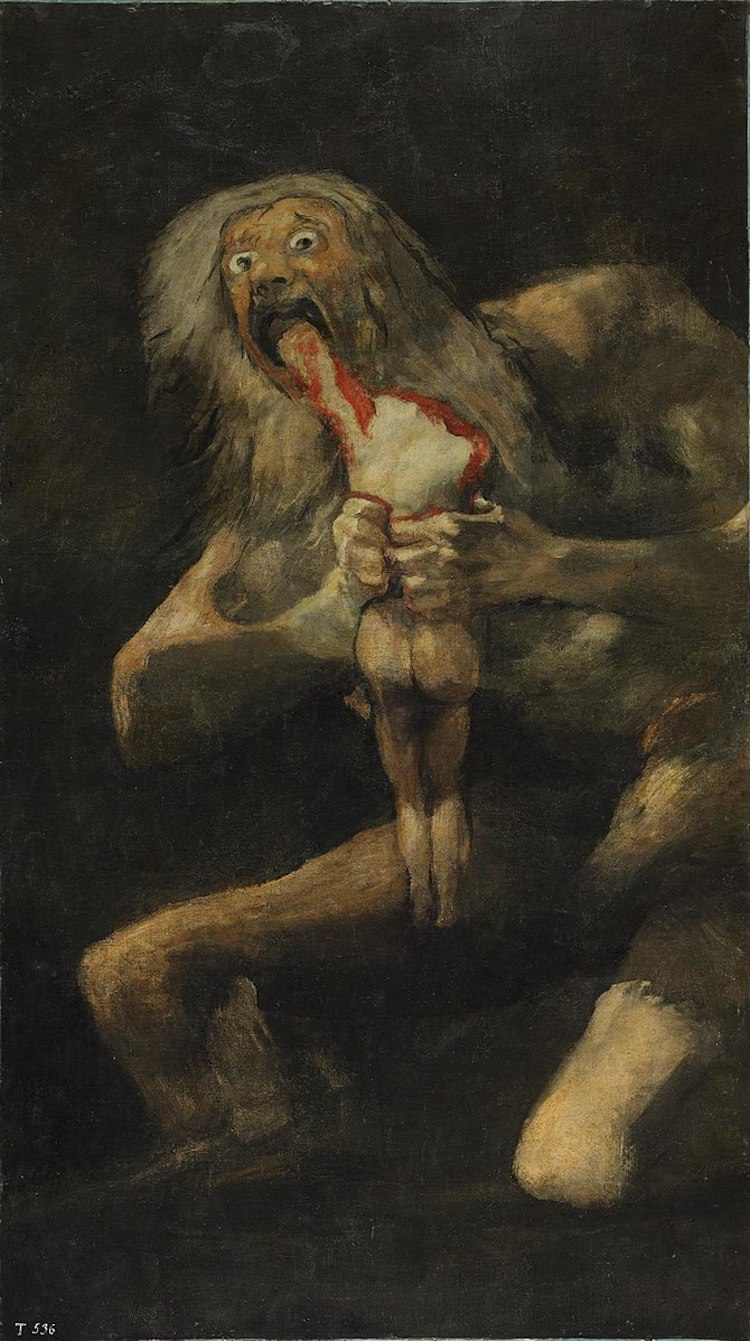 Saturn Devouring His Son by Goya