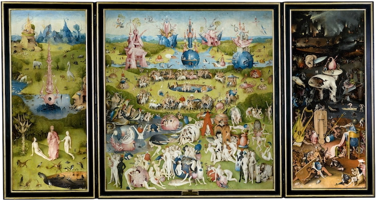 Scary Art Scary Paintings Bosch Garden of Earthly Delights